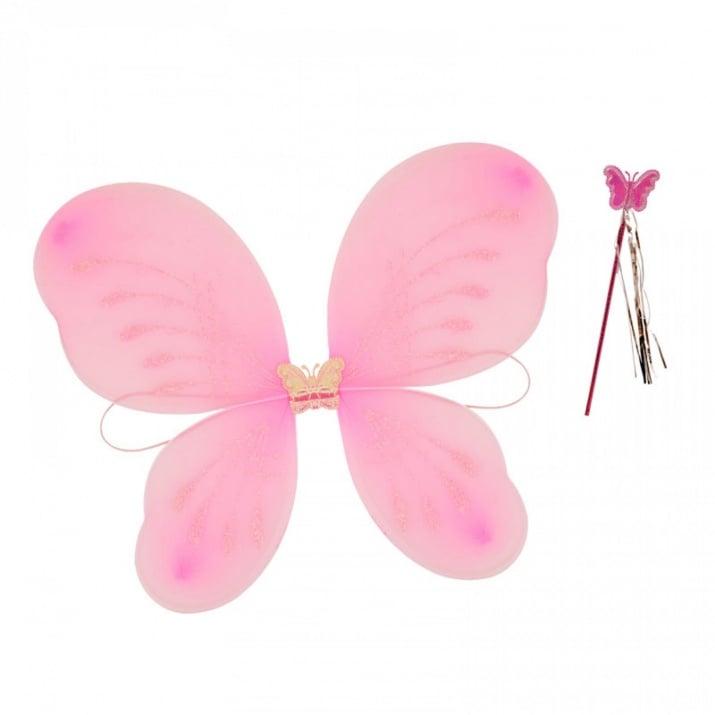 """Парти крила с пръчица Пеперуда Парти крила с пръчица """"Пеперуда"""" /розов/"""