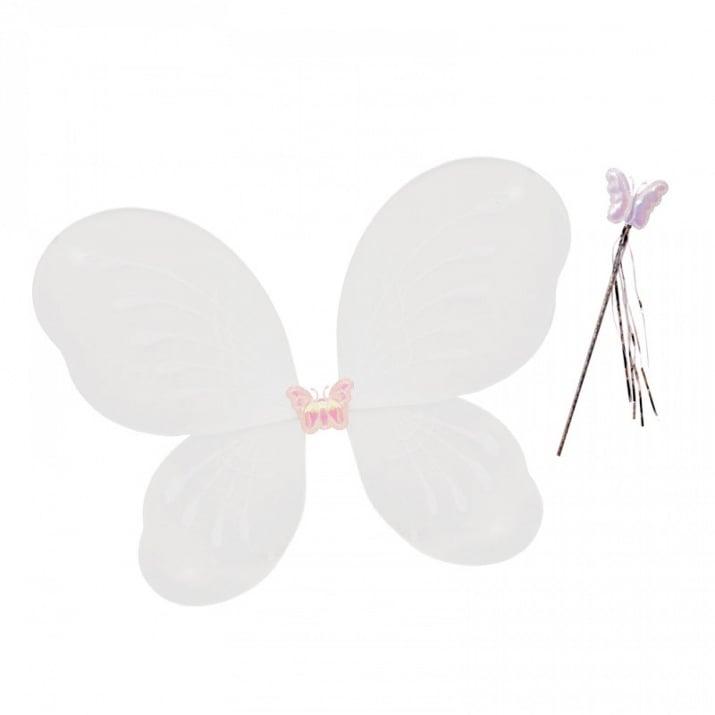 """Парти крила с пръчица Пеперуда Парти крила с пръчица """"Пеперуда"""" /бял/"""