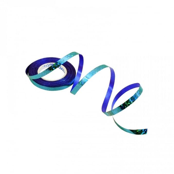 Лъскава лента за балони /10 метра/ Лъскава лента за балони /син/