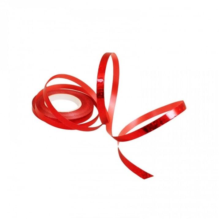 Лъскава лента за балони /10 метра/ Лъскава лента за балони /червен/