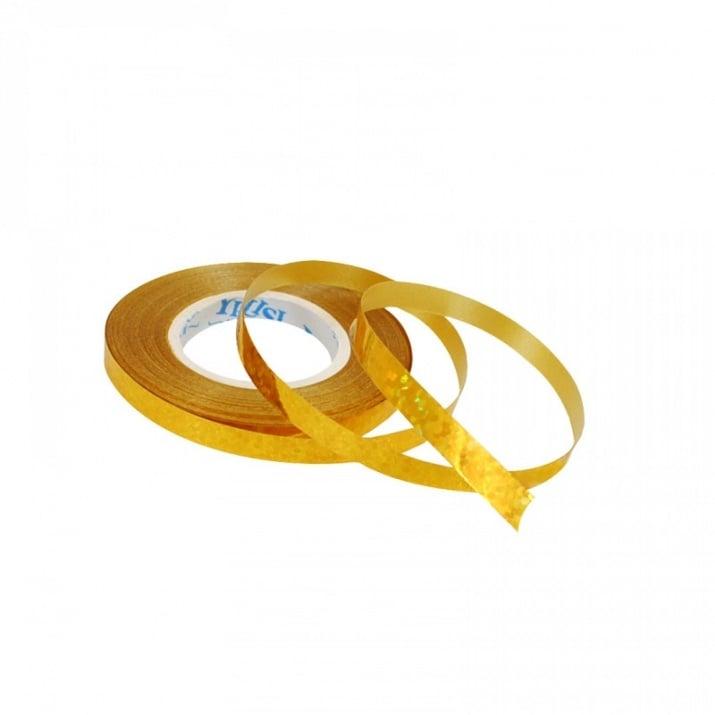 Лъскава лента за балони /10 метра/ Лъскава лента за балони /златен/