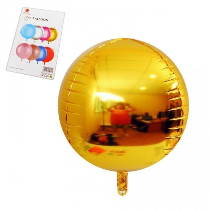 "Балони Сфера /фолио/ Балони ""Сфера"" - фолио /златно/"