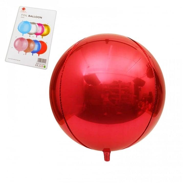 "Балони Сфера /фолио/ Балони ""Сфера"" - фолио /червен/"