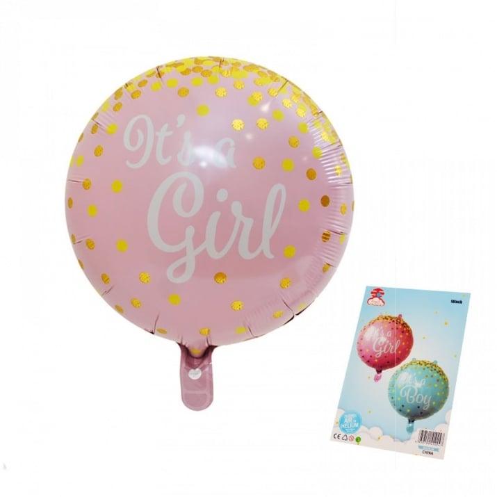 "Балон It's Girl / Boy /фолио/ Балони ""It's Girl""- фолио /розов/"