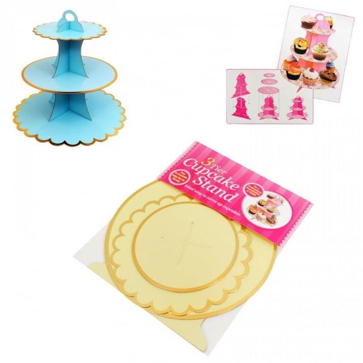 Стойка за сладкиши на три нива /картон/ Стойка за сладкиши