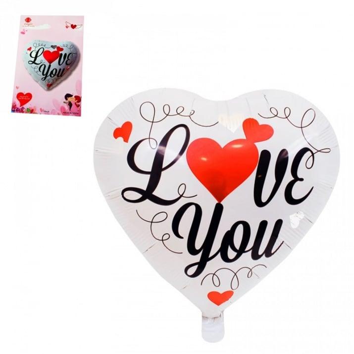 "Балон сърце ""I LOVE YOU"" /фолио/"