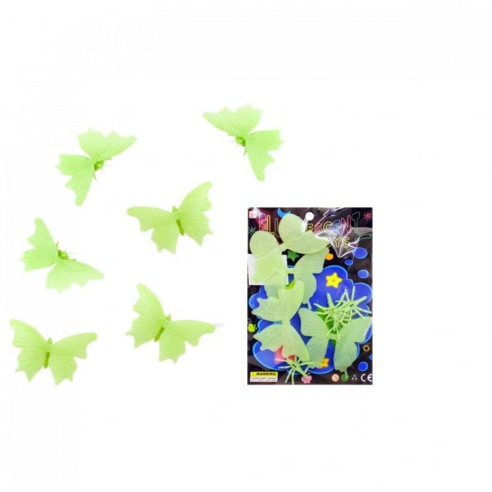 Светещи  пеперуди - 6 броя