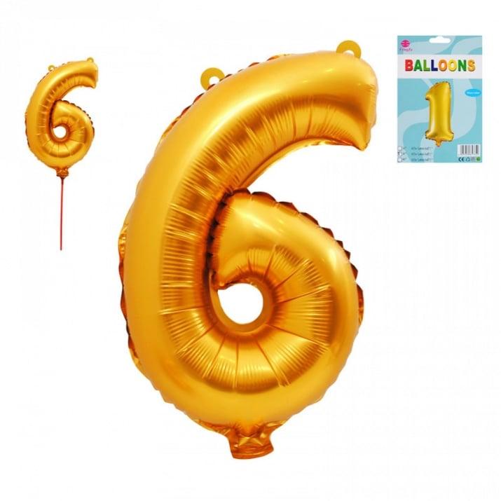 Балони - Цифри /фолио/ Балон - Цифра 6