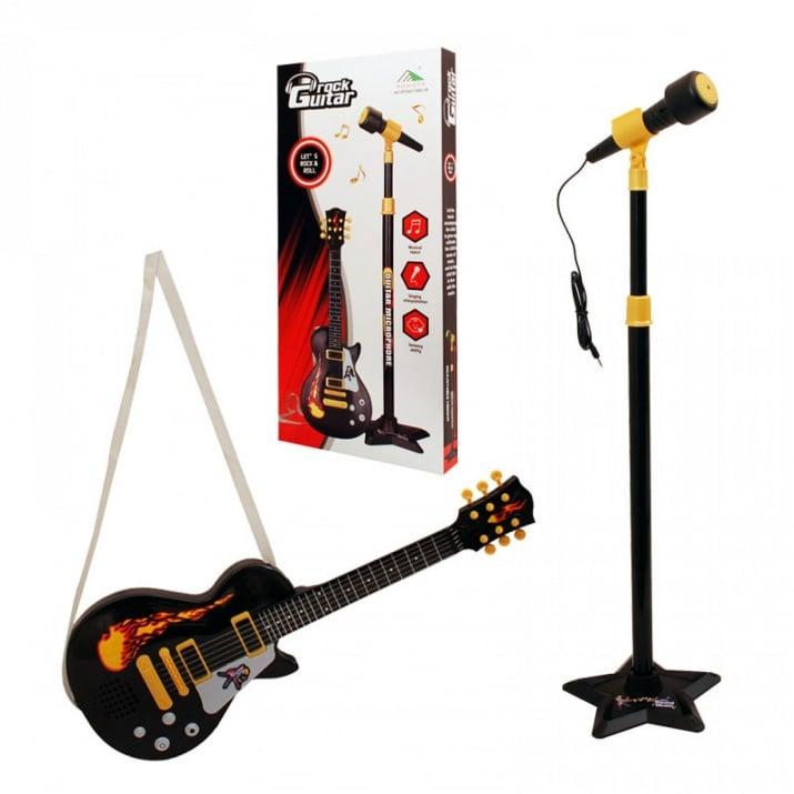 К-кт микрофон на стойка с китара