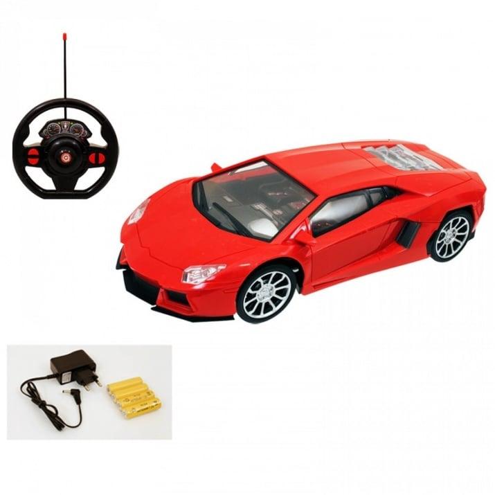 Симулационна спортна кола с волан 1:16 Симулационна спортна кола с волан 1:16 /червен/