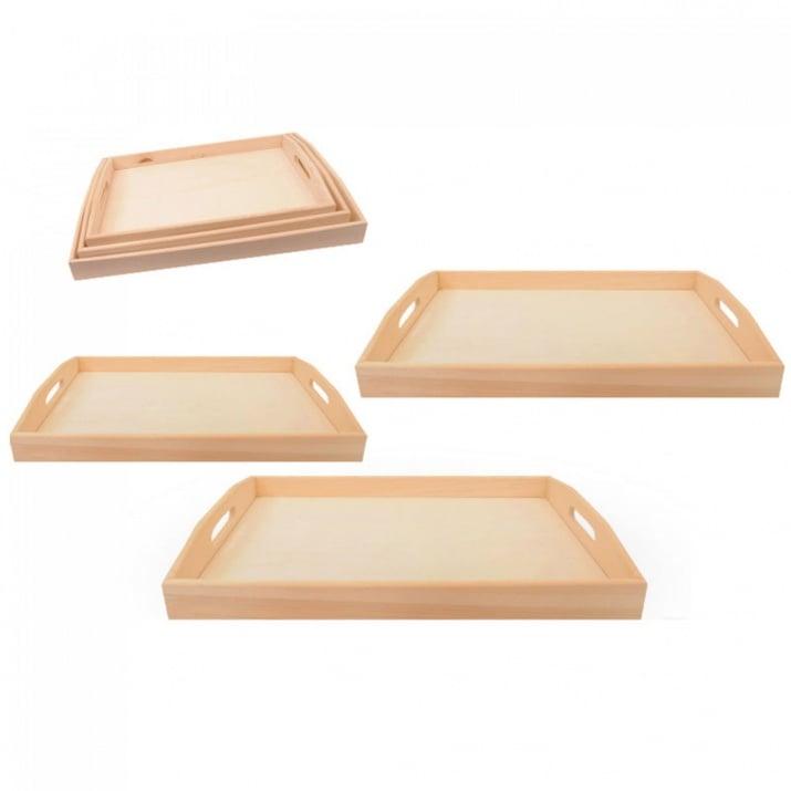 Комплект дървени табли 3в1