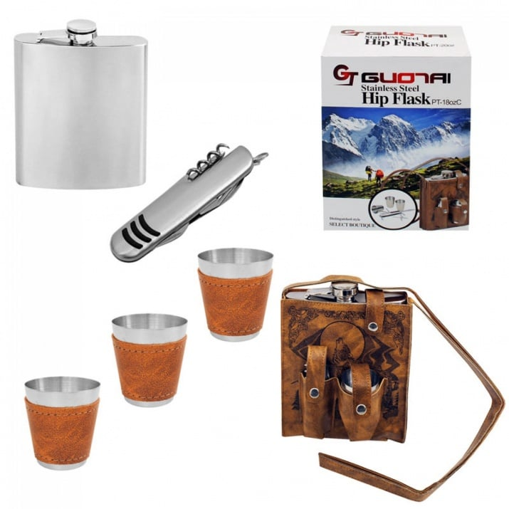 Комплект манерка, ножче и 3 чашки