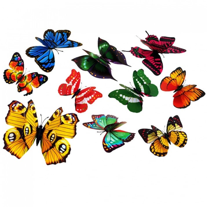 Пеперуди 3Д с магнит - 10 броя