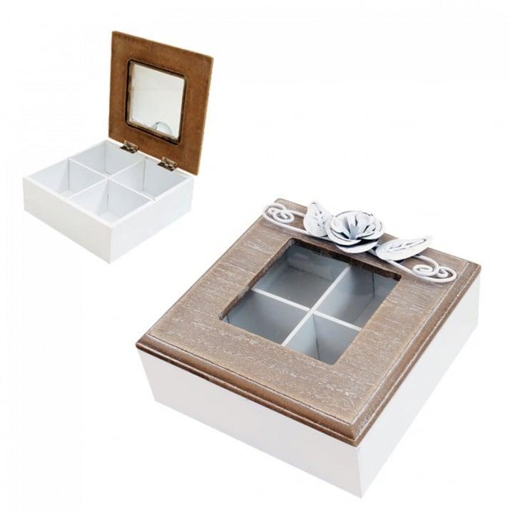 Кутия за чай с метални орнаменти