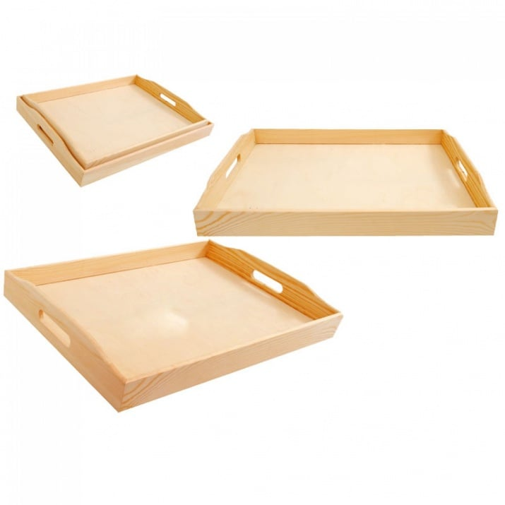 Комплект дървени табли 2в1
