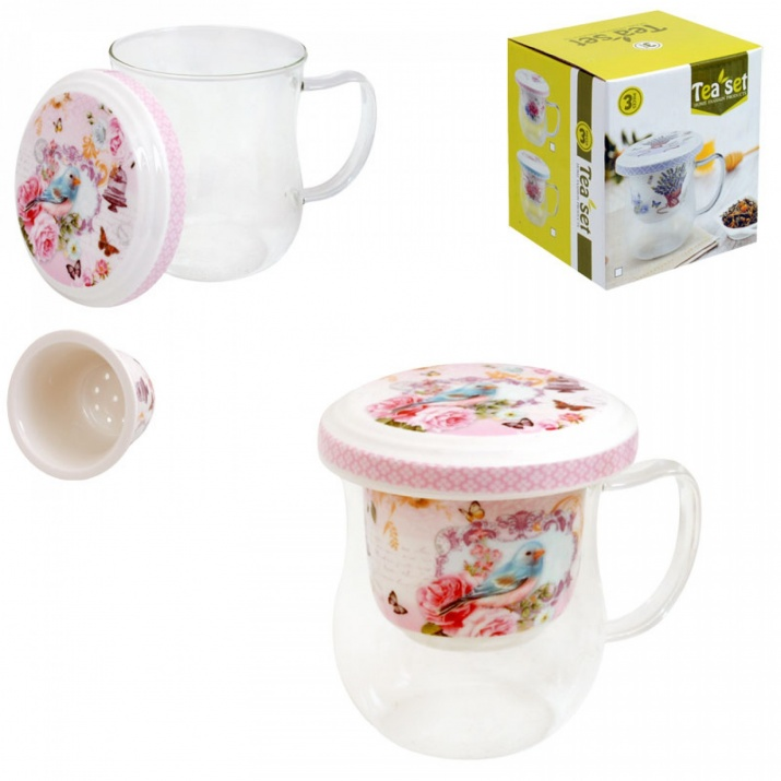 Чаша за чай с капак и цедка    Чаша за чай с капак и цедка