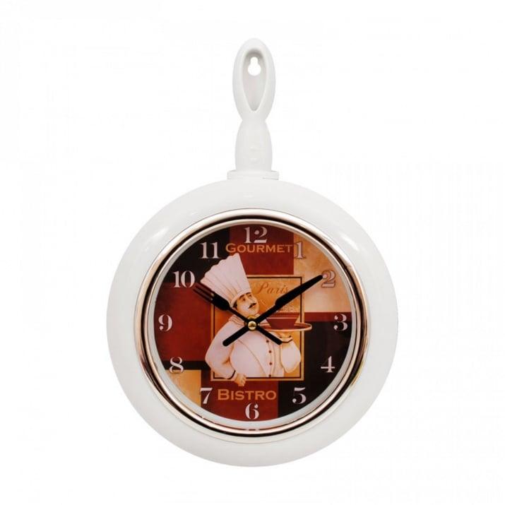 """Стенен часовник Тиган Стенен часовник """"Тиган"""" /бял/"""