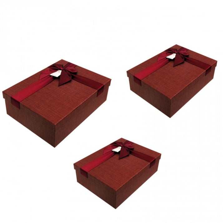 Луксозна подаръчна кутия 3 в 1 /правоъгълна/ Луксозна подаръчна кутия 3 в 1 /бордо/