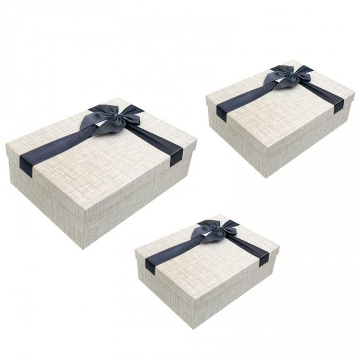 Луксозна подаръчна кутия 3 в 1 /правоъгълна/ Луксозна подаръчна кутия 3 в 1 /сив/