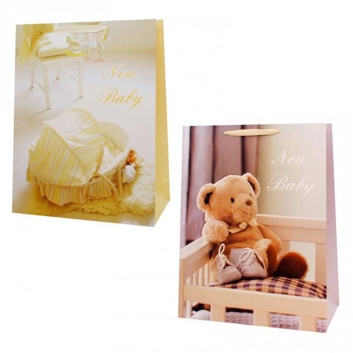 "Подаръчна торбичка ""New Baby"" /12 броя в опаковка - микс/"
