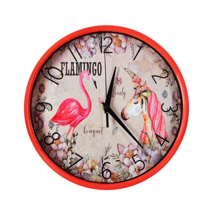 "Стенен часовник Стенен часовник ""Фламинго и Еднорог"""