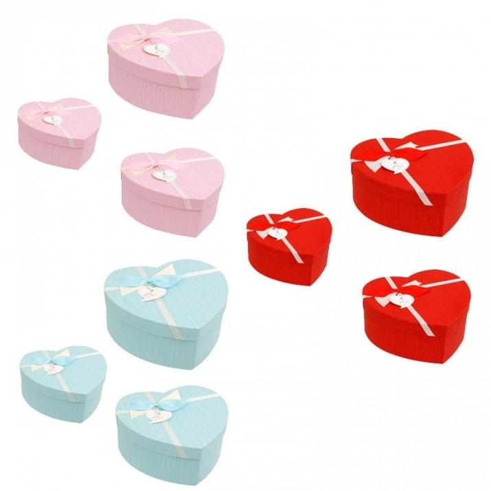 """Подаръчни кутии """"Сърце"""" /3 в 1/"""
