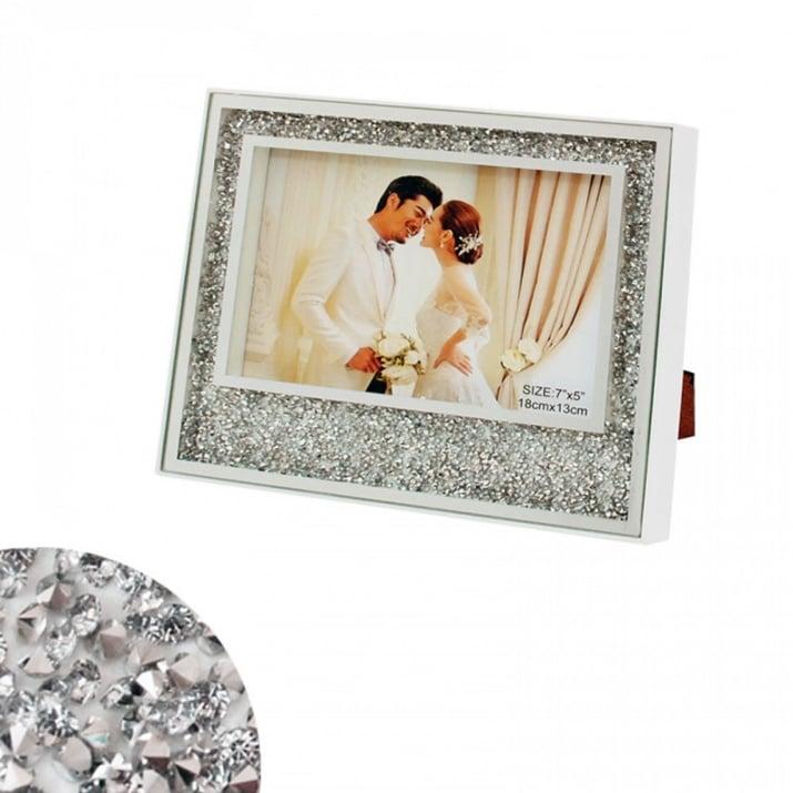 Сватбена фоторамка с кристали