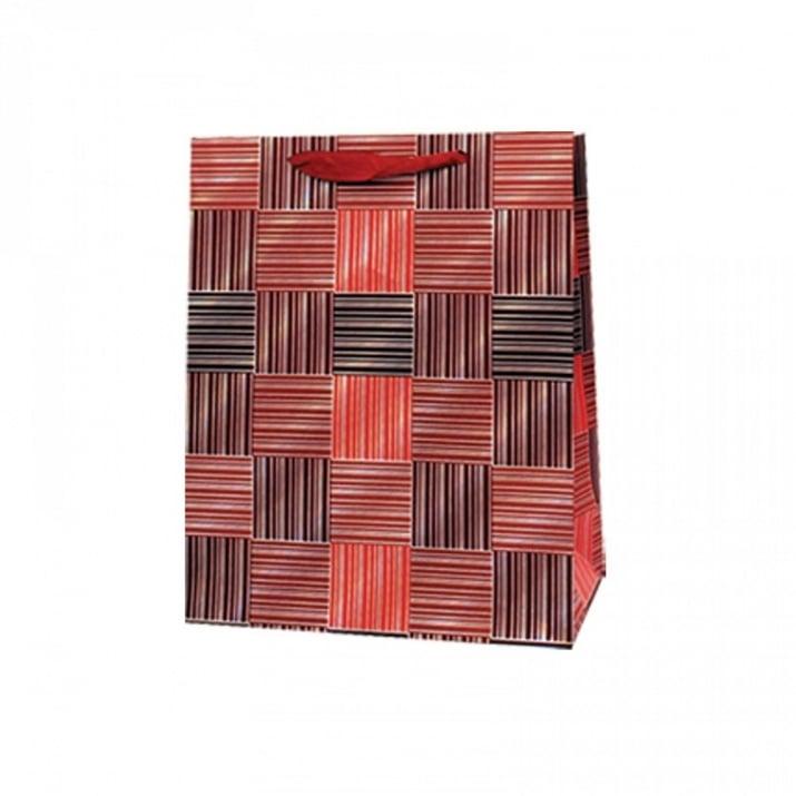 Подаръчна 3D торбичка /дебел картон/ Подаръчна 3D торбичка /червен/