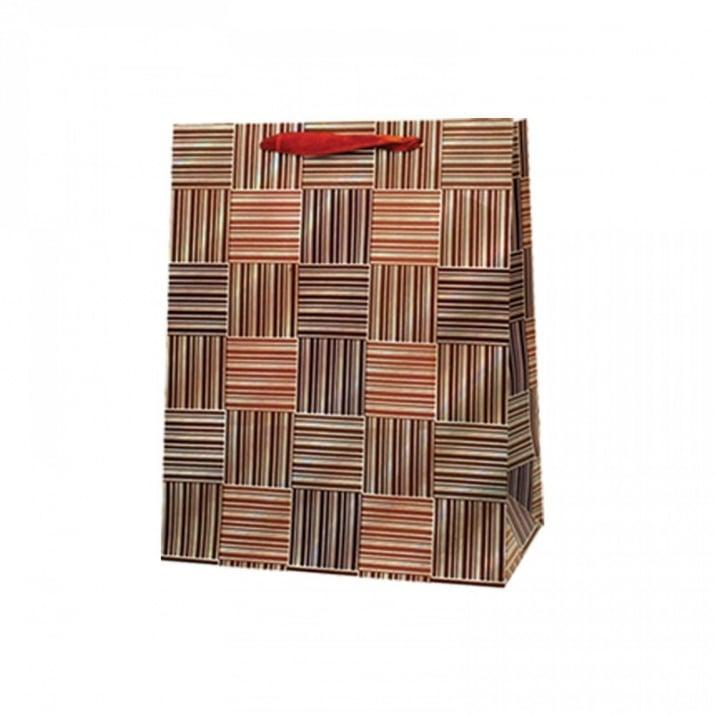 Подаръчна 3D торбичка /дебел картон/ Подаръчна 3D торбичка /кафяв/