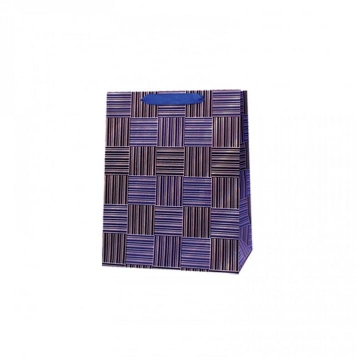 Подаръчна 3D торбичка /дебел картон/ Подаръчна 3D торбичка /син/