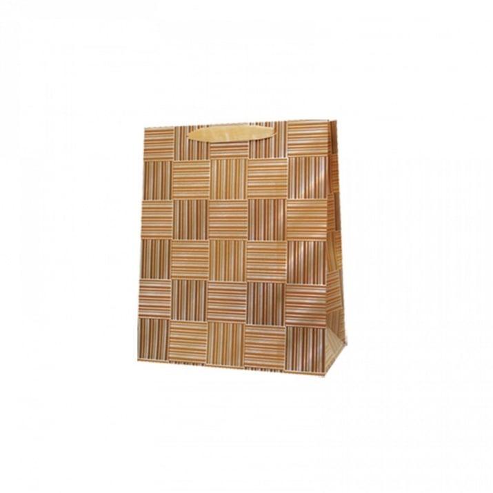 Подаръчна 3D торбичка /дебел картон/ Подаръчна 3D торбичка /златист/
