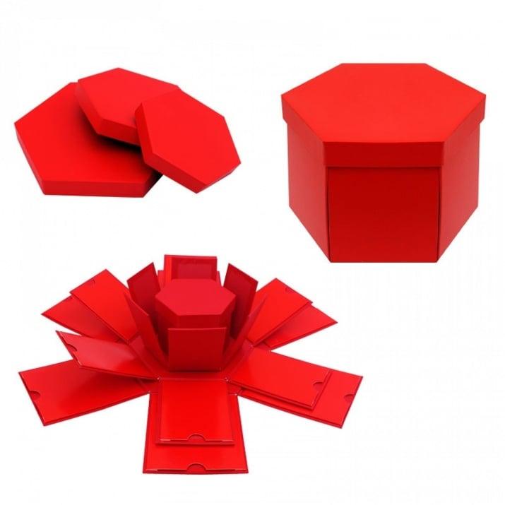 Подаръчна кутия Албум - Изненада 4 в 1 Подаръчна кутия - Албум 4 в 1 /червен/