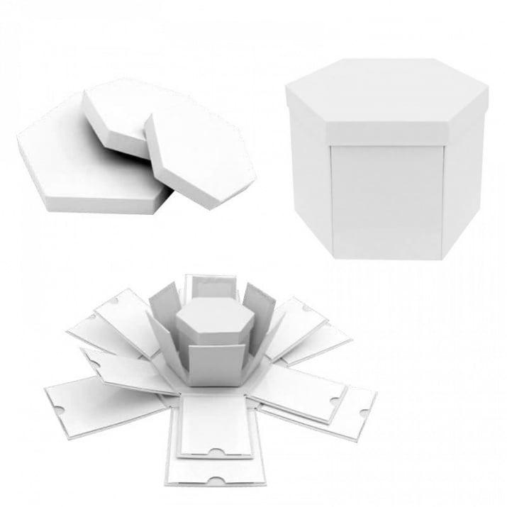 Подаръчна кутия Албум - Изненада 4 в 1 Подаръчна кутия - Албум 4 в 1 /бял/