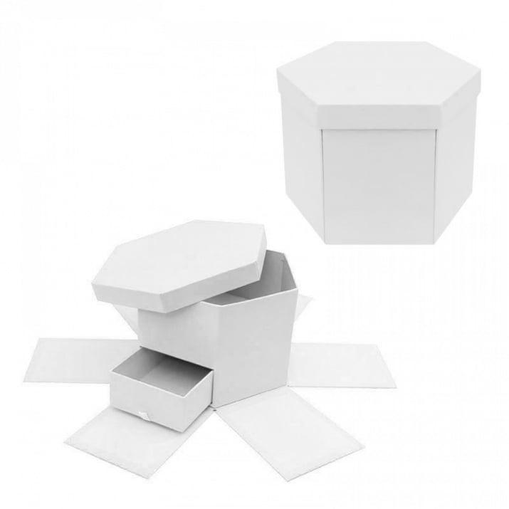 Подаръчна кутия Албум - Изненада с чекмедже Подаръчна кутия - Албум с чекмедже /бял/