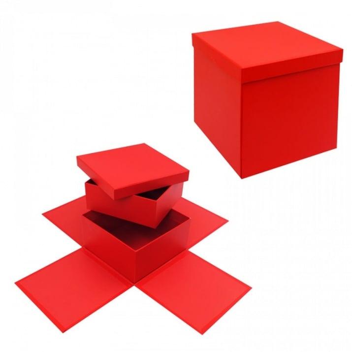 Подаръчна кутия Албум - Изненада на две нива Подаръчна кутия - Албум на две нива /червен/