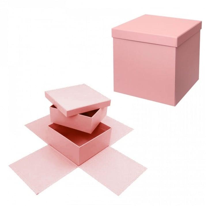 Подаръчна кутия Албум - Изненада на две нива Подаръчна кутия - Албум на две нива /розов/