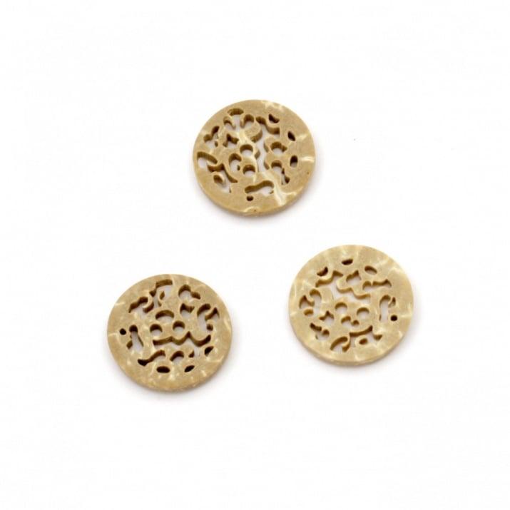 Копче кокос 15x2 мм дупка 1.5 мм -5 броя