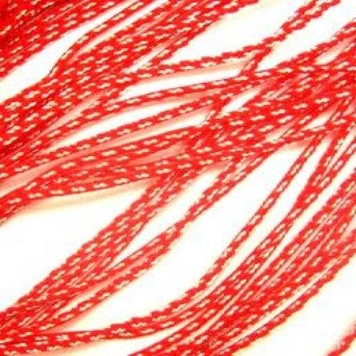 Шнур корда 1.5 мм ША2-12 полиестер коприна две бели - 50 метра