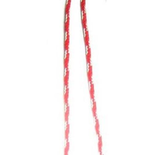 Шнур корда 1.5 мм ША3-35 полиестер коприна три бели - 50 метра