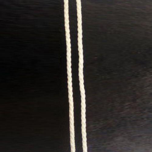 Шнур объл 3мм. Г1-1 бял -50м.