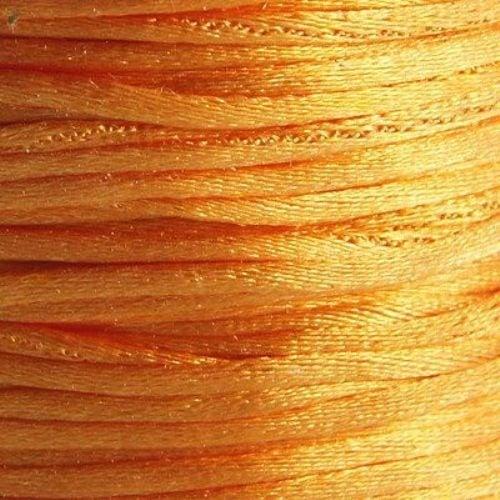 Шнур полиамид лъскав 1 мм оранжев -10 метра