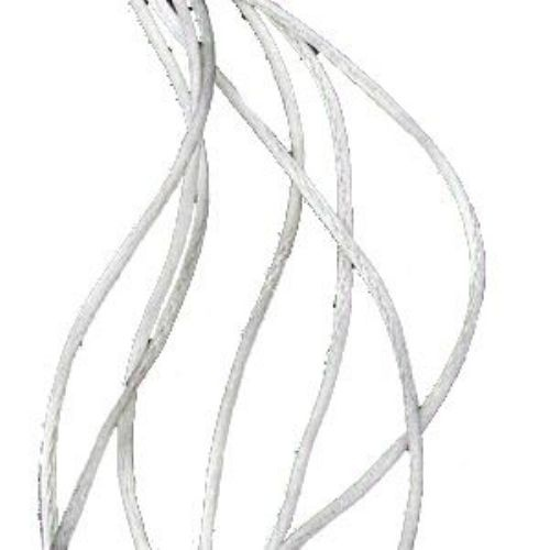 Шнур полиамид лъскав 1 мм бял -10 метра