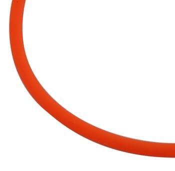 Шнур силикон 2 мм оранжев електрик -5 метра