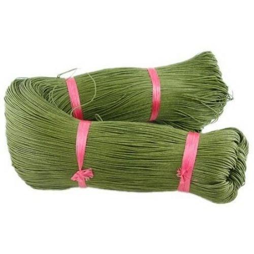 Шнур памук колосан 1.5 мм зелен маслинен ~76 метра