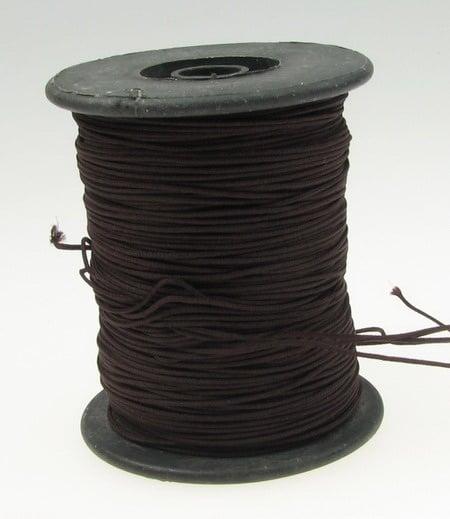 Шнур полиестер с основа корда 0.8 мм кафяв тъмно ~100 метра