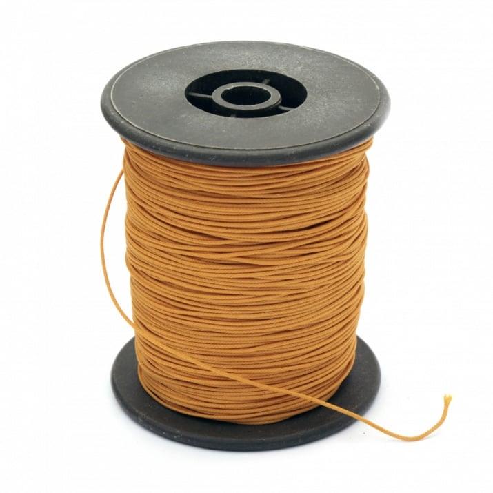 Шнур полиестер с основа корда 0.8 мм оранжев ~100 метра