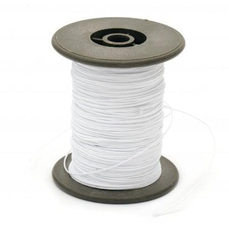 Шнур полиестер с основа корда 0.8 мм бял ~60 метра