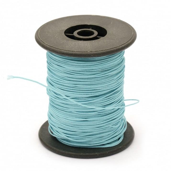 Шнур полиестер с основа корда 0.8 мм син светло ~60 метра