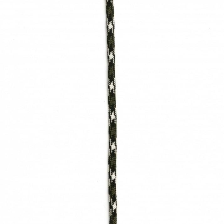 Паракорд /парашутно въже/ 4 мм цвят бяло черно зелено - 1 метър