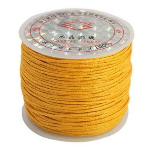 Шнур памук колосан 1 мм оранжев светъл ~25метра